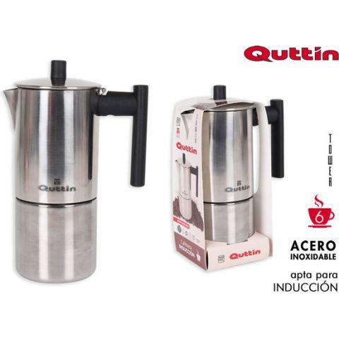 QUTTIN CAFETERA ACERO INOX 6T