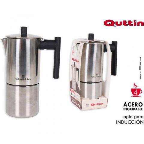 QUTTIN CAFETERA ACERO INOX 4T